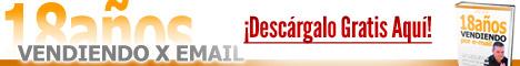 Promo Booklet: 18 Años Vendiendo x E-mail 2 - Banner 468