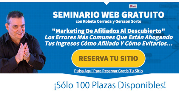 Seminario Gratuito Marketing de Afiliados Al Descubierto